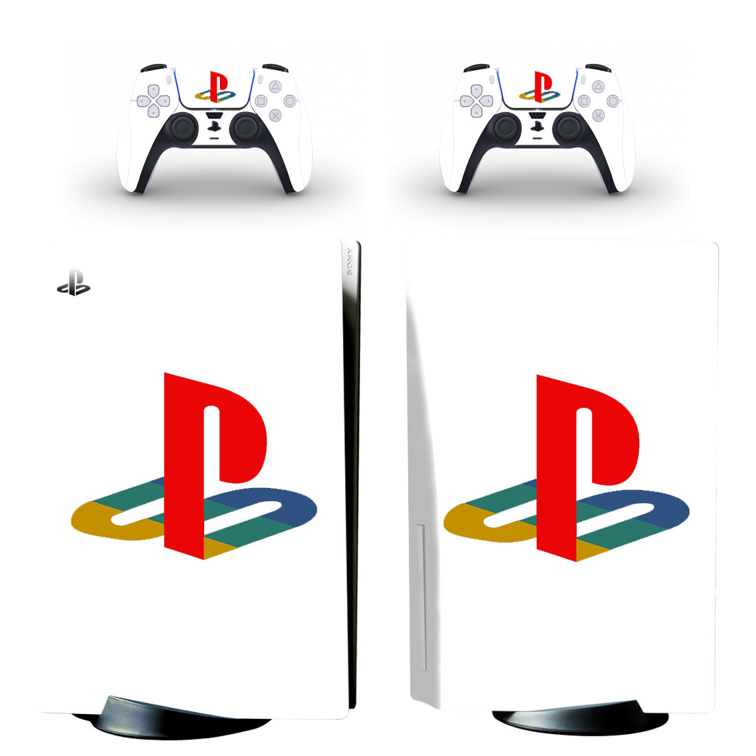 Symbol Design PS5 Standard Disc Edition Skin Sticker Decal for PlayStation 5 Console & Controller PS5 Disk Skin Sticker Vinyl 1