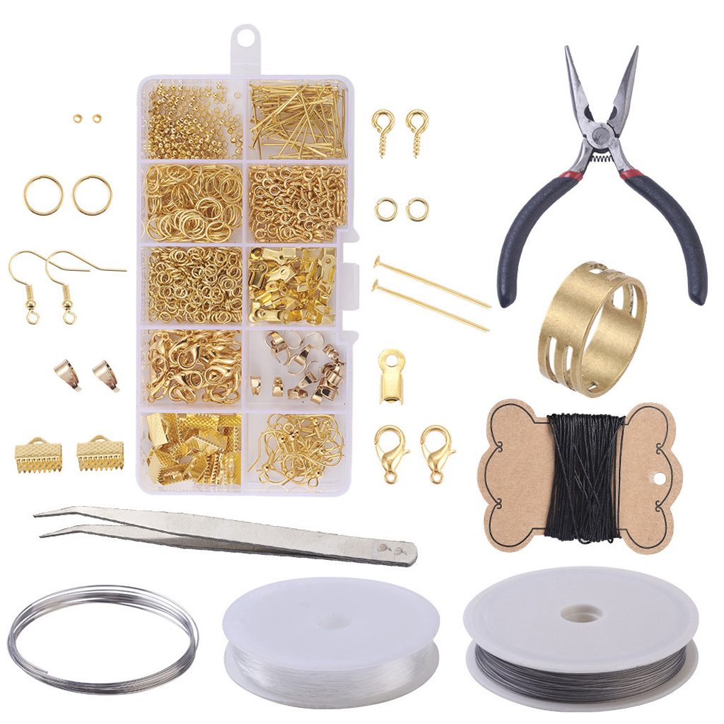 Beginners Jewelry DIY Kit Making Repair Tools For Bracelet Earrings Necklace
