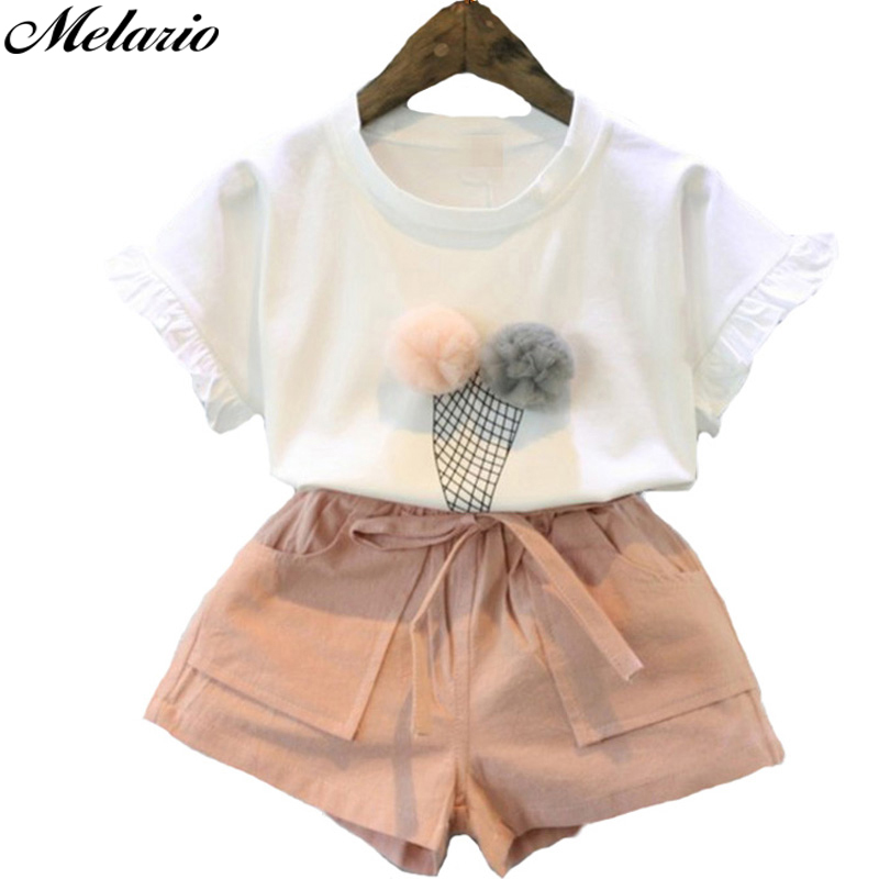 Melario Suit Clothing-Sets Outfits Chiffon Two-Piece Girls Summer Sleeveless Casual Vest