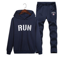 Autumn Mens Fashion Designer Tracksuits Casual Hooded Sports Loose 2PCS Sets Male Running Letter Printed Suits