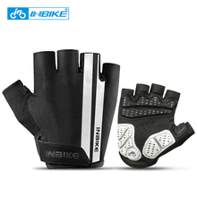INBIKE Half Finger Cycling Gloves Sport Fitness Racing MTB Bike Gloves Summer Men Women Riding Thickened Palm Pad Bicycle Gloves cheap Polyester IF239 Washable Gloves Mittens Blue Red Black Cycling Racing Motorcycle Hiking Climbing Fitness