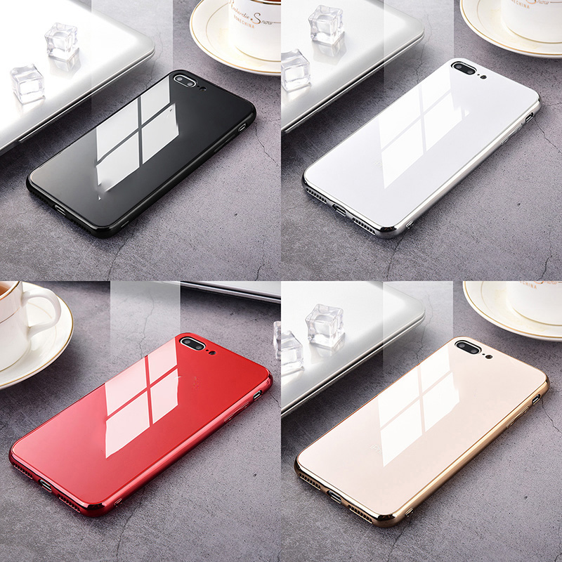 Luxury Phone Case Mirror Plating Tempered Glass Cover For Phone 11 11pro 11 Pro Max X XR XS 6 7 8 6S Plus Phone Shell
