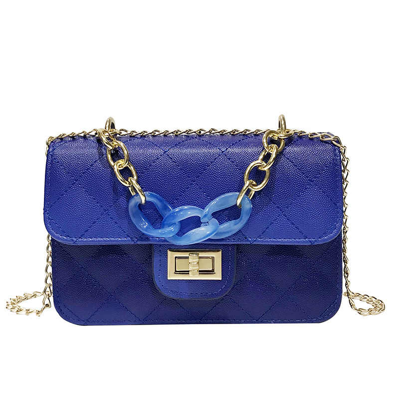 Fashion Leather Womens Handbag 2019 Blue Small Crossbody Bags For Women With Handle Women Whoulder Bag Small Cross Body Flap