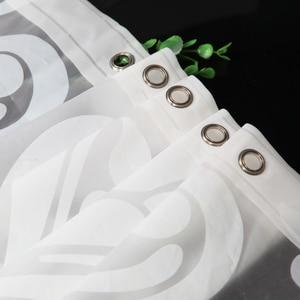 Image 5 - PEVA Stoff Dusche Vorhang mit Haken Wasserdichte Kunststoff Bad Bildschirme Geometrische Blumen Druck Umweltfreundliche Bad Vorhänge
