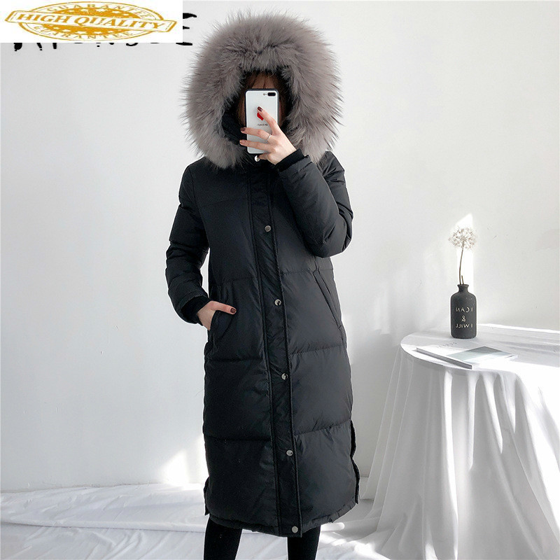White Duck Down Jacket Women Winter Coat Women Down Coat Long Korean Puffer Jacket Warm Parka Chaqueta Mujer YY1468