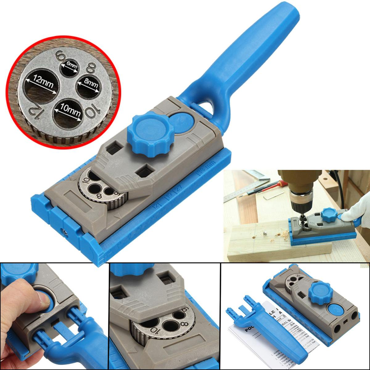 Multi-purpose Round Wood Tenon Locator Drilling Positioner Drill Hole Woodworking Tool Pocket Hole Jig