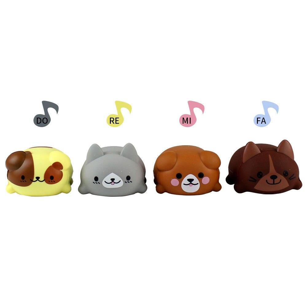 8 pièces/ensemble échelle chien forme jouet électrique nouveauté multicolore Animal musique cadeau enfants éducatifs Parent-enfant jouets