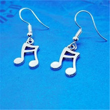 Сережки «ноты» серьги с музыкальной символикой подарок для гитариста