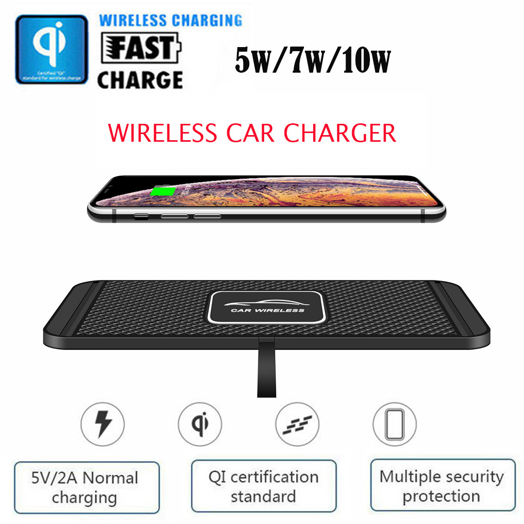 CARPRIE Wireless Charger 2in1 Wireless Car Charger Silicone Pad Phone Dash Mount with GPS Holder Fast Charger Quick Charge Phone