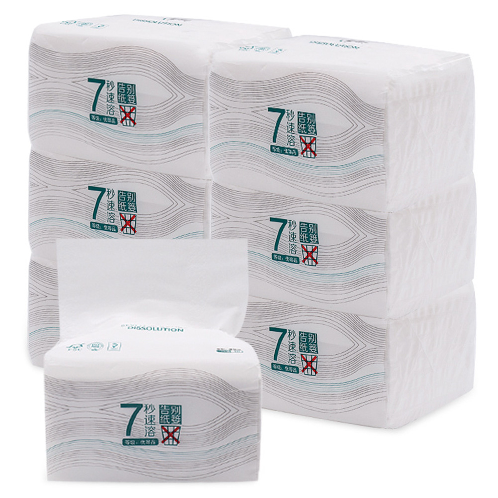 Clean Soft Paper Extraction Tissue Wood Pulp Paper 150 Pumping 3-ply For Home Office Toilet FS99