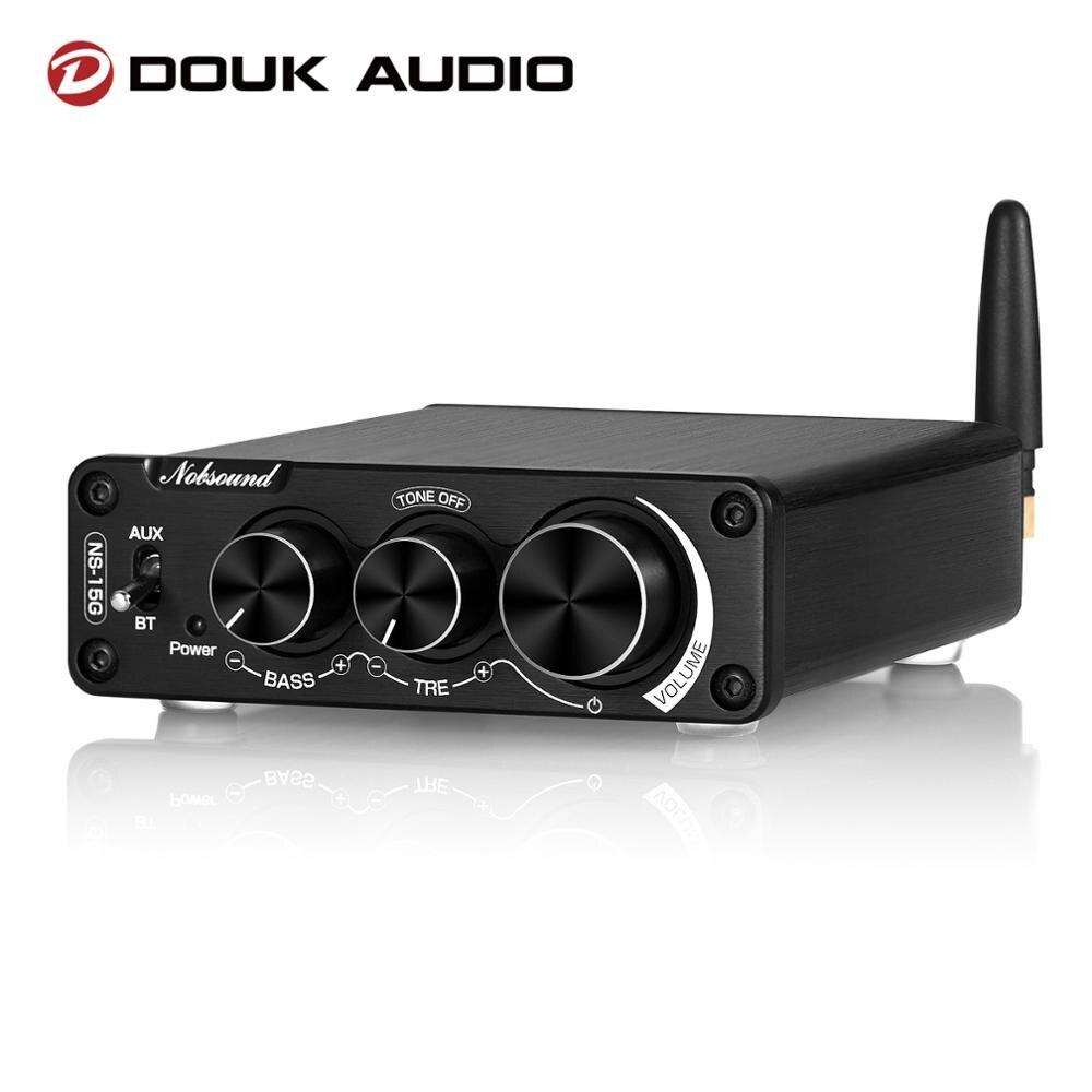 Douk ns15g áudio mini bluetooth 5.0 tpa3116 amplificador de potência digital alta fidelidade som estéreo classe d amp baixo agudos para alto-falante