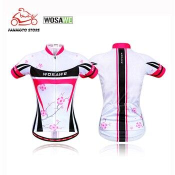 WOSAWE Quick Dry Motorcycle T-shirts Cycling Jersey Women Summer Short Sleeve MTB Road Bike Racing Bicycle Cycling Clothing недорого