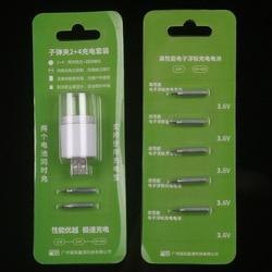 Klip 2 + 4 zestaw ładujący akumulator na usb 425 elektryczny pływak Luminous Drift akumulator nocny akumulator dryfujący 425 na