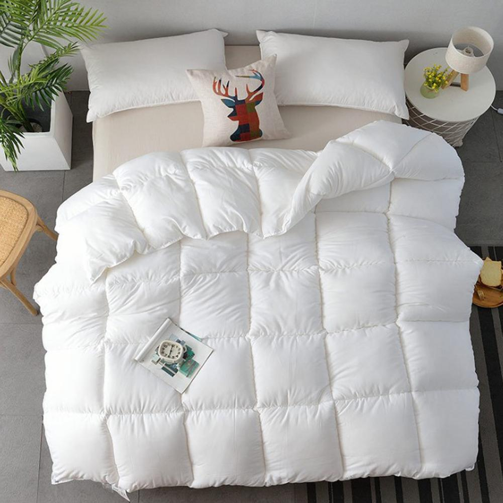 White Gray Ultra-soft Duvet Grade A Cotton All-Season Down With Plush Microfiber Fill Washable Duvet For Hotel Home Winter Quilt