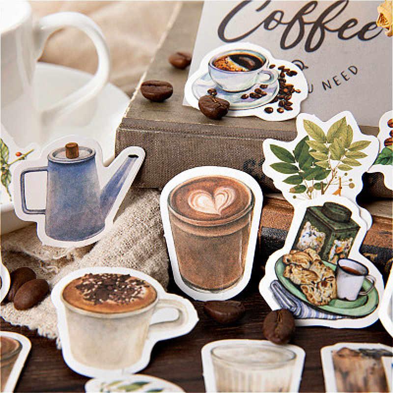 45 Pcs Kawaii Carino Cafe Nastro Washi Nastro Adesivo Pratico Lustro Adesivo Fai da Te Scrapbooking Etichetta Adesiva Del Nastro Adesivo