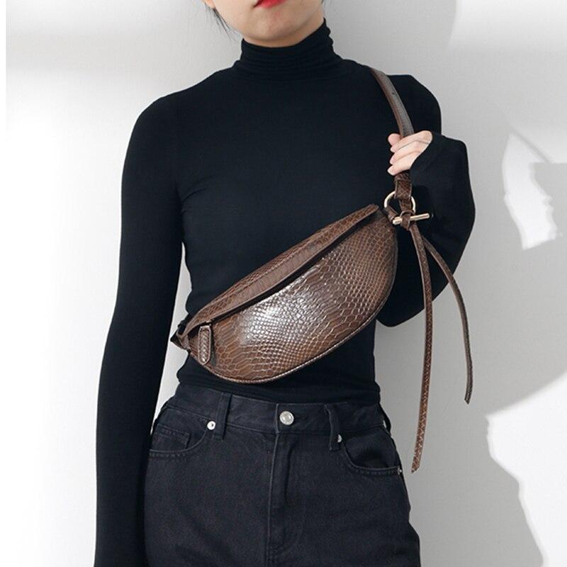 Serpentine Waist Bag Women Luxury Fanny Pack High Quality Fashion Crossbody Bag Chest Bag PU Leather Brand Ladies Shoulder Pack