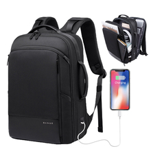 15.6 inch Laptop Backpack Male Bag Business USB Recharging Multifunctional Multi-layer Man Travel Mochila
