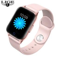LIGE New women smart watch Waterproof Sport For iPhone Heart rate Blood pressure function smartwatch men woman Fitness tracker