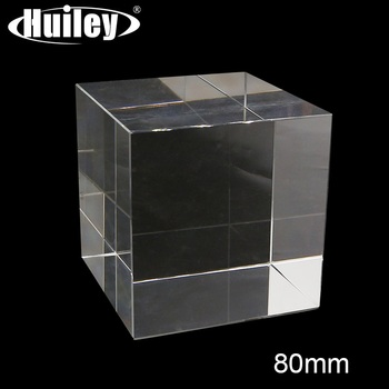 Optical Cube Prism High Quality Transparent Crystal Glass Decorations Hexahedron Prism for Photography K9 Optical Glass 1 inch corner cube prism no coating height 19mm high precision bk7 optical glass trihedral retroreflector