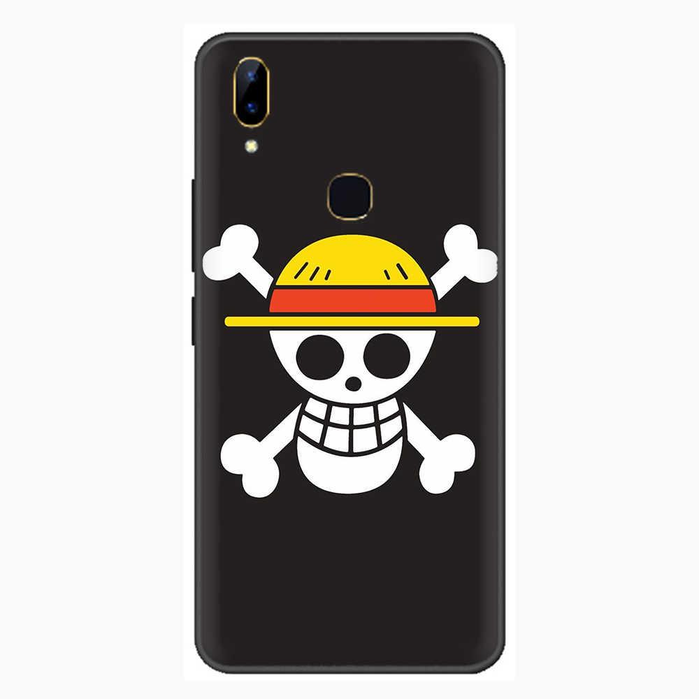 Japońskie Anime Luffy One Piece silikonowy telefon etui na VIVO Y81 V5 V7 V9 V11 V15 Pro Y17 Y69 Y71 Y91 Y93 Y66 X9 Y11 U3 Y5S