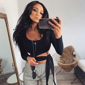 Women T-shirt Long Sleeve Top Ladies Bodycon Casual T Shirt Sexy Ladies Shirt Womens Clothing Party Clothes Women Tee Shirts