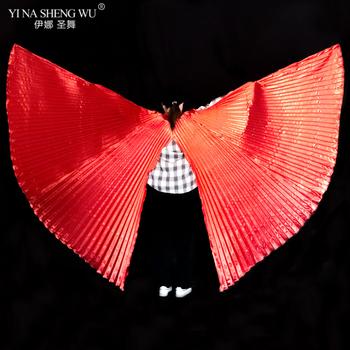 Dla dorosłych taniec brzucha Isis Wings Unisex akcesoria do tańca brzucha Bollywood orientalne egipt Split Wings nie kije rekwizyty taneczne brzucha tanie i dobre opinie YI NA SHENG WU WOMEN Poliester