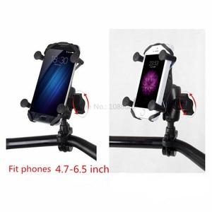 Image 3 - Jadkinsta X Grip Mount Holder Adjustable Motorcycle Rear View Mirror Mount Handlebar with 6cm Double Socket Arm for Gopro Phone