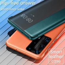Luxus Leder Fällen Für HUAWEI P40 P30 Pro Plus Smart Schlaf Flip Wake Up Stoßfest telefon Abdeckung Für HUAWEI Mate 40 30 Pro Fall