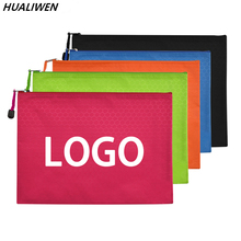 Stationery Document-Pouch File-Folder A4 5pcs Filing-Production Zipper-Bags Words Canvas