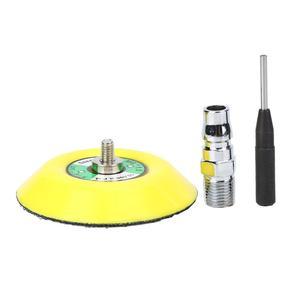 Image 5 - Mini Luft Winkel Sander 90 Grad Pneumatische Polieren Schleifen Maschine + 2 zoll 3 zoll Schleifen Pad 16000rpm Luft winkel Polierer
