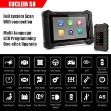 Eucleia S8 Professionele Volledige Systeem OBD2 Scanner J2534 Ecu Programmering Odb OBD2 Automotive Scanner Pk MK908P Auto Diagnostic Tool