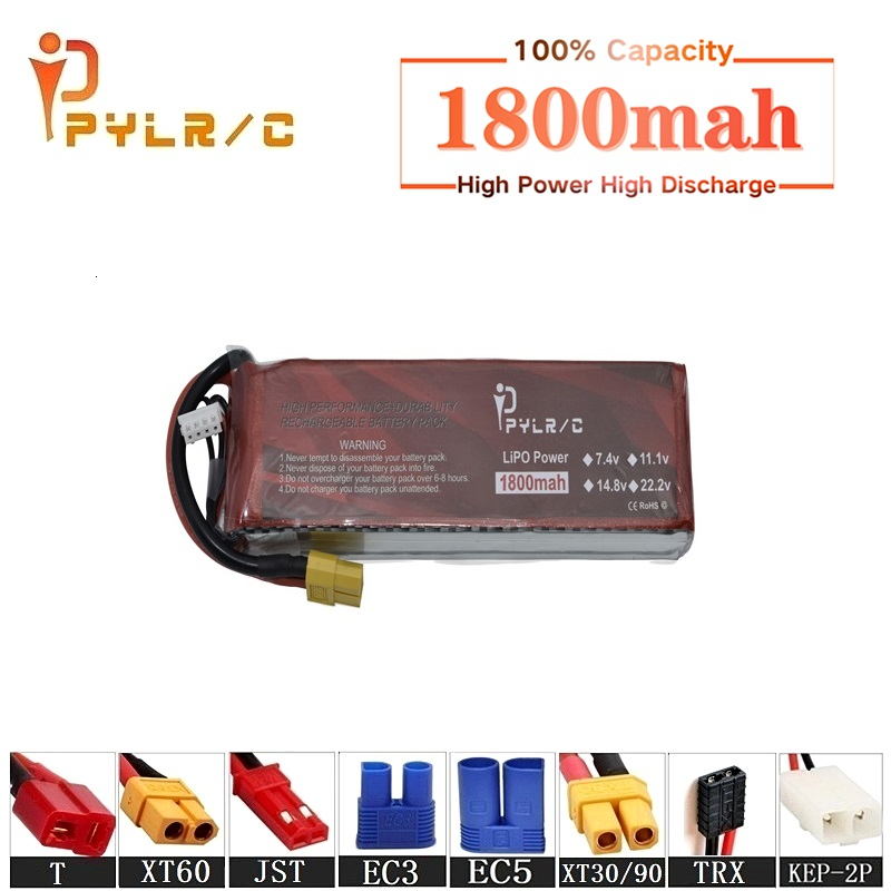 High Rate 7.4v 1800mAh Lipo Battery For RC Helicopter Parts 2s Lithium battery 7.4v 35C RC Cars Airplanes Drones Battery T/XT60(China)