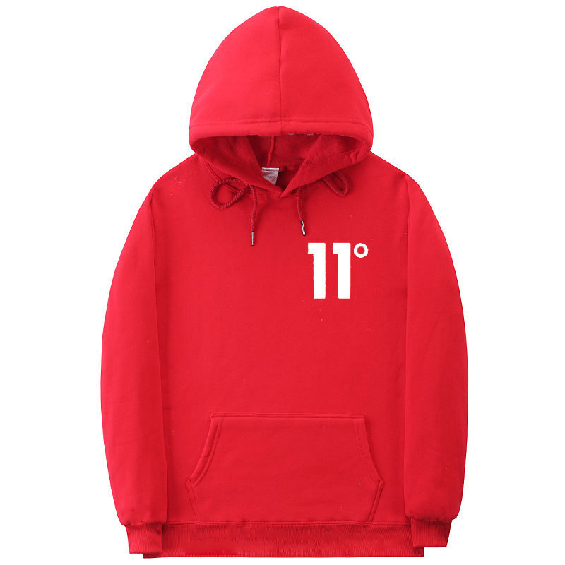 Hot Sales 11 Degree Hoodie Europe And America Men And Women Autumn And Winter 11-Degree Pullover Transport