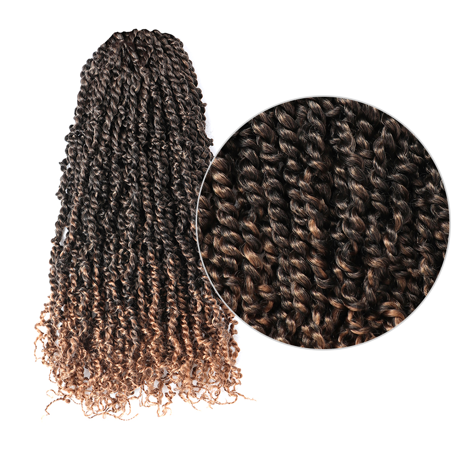 Toyotress Pre-twisted Passion Twist Braiding Hair Crochet Synthetic Hair Extensions 11strands/pc 20inch