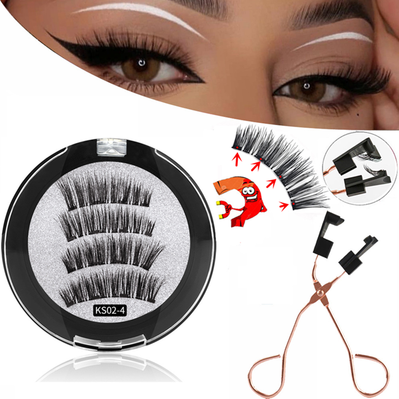3D Magnetic eyelashes With makeup  1
