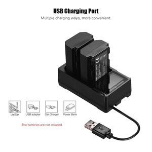 Image 2 - NEW Portable Dual Slot USB Camera Battery Charger for Sony A6300 6500 A7M2 R2 with LCD Display Quick Camera Battery Charger