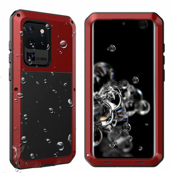 Heavy Duty Protection Doom Armor Metal Aluminum Mobile Phone Case For Galaxy S20 Ultra S20 Plus S20 Drop-proof Shockproof Cover