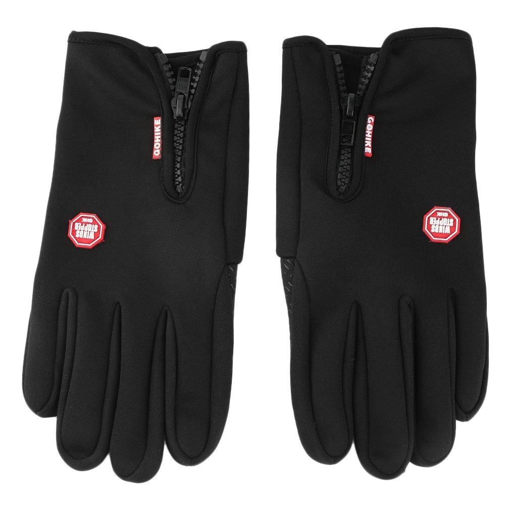 Мужские Женские зимние теплые дышащие уличные спортивные походные зимние ветрозащитные велосипедные перчатки с сенсорным экраном - 2