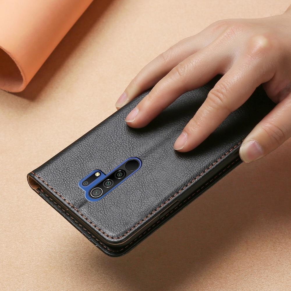 Магнитный чехол для Xiaomi Redmi 9, кожаный чехол из ТПУ, задняя крышка для Xiaomi Redmi 9, флип кошелек, чехол с отделениями для карт, сумка для телефона Etui|Бамперы| | АлиЭкспресс