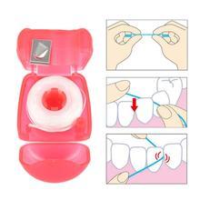 Портативный 15 м зубная нить чистка зуб стоматология необходимые зубная нить стоматология с футляром стоматология гигиена защита десны пластик полость рта уход инструмент