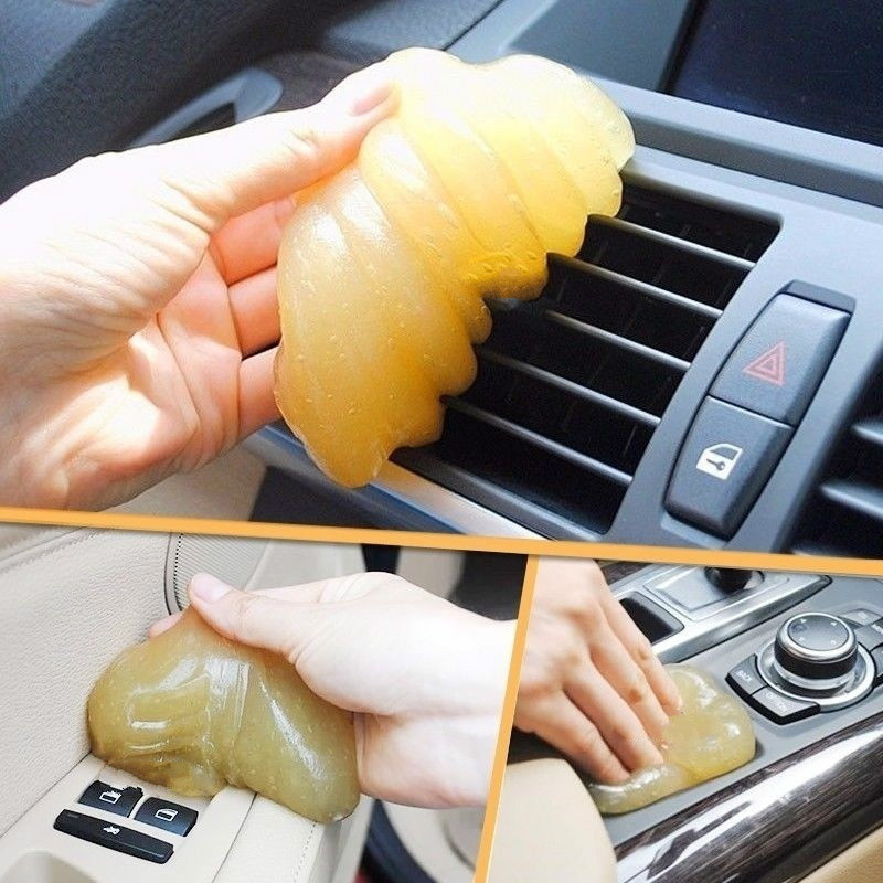 Car Cleaning Sponge Clean Glue Gel Sticker Interior Panel Air Vent Outlet Dashboard Dust Laptop Microfiber Dust Tools