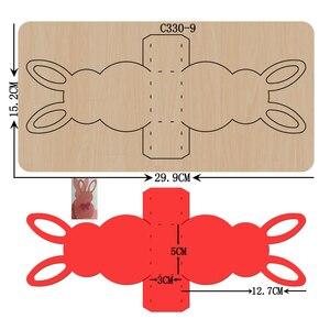 Image 1 - Thỏ mới. Hộp đựng kẹo Gỗ chết Thêu Sò C 330 9 Cắt Chết Tương Thích với hầu hết các máy cắt gạch bàn tay