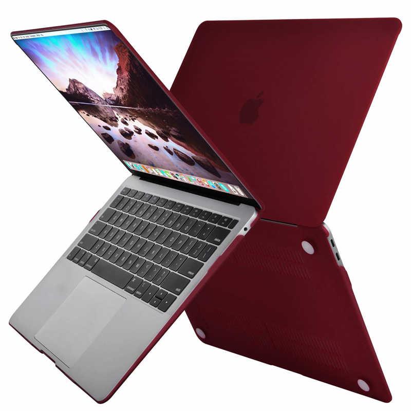 MOSISO nowy matowy na laptopa etui na Macbooka macbook Air Pro Retina 11 12 13 15 15.4 13.3 cal z ekranem dotykowym twarde powłoki tulei Cov