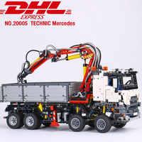 DHL 20005 Technic samochody zabawkowe kompatybilne z Legoing 42043 Arocs 3245 Model samochodu klocki zestawy klocków dla dzieci prezenty świąteczne