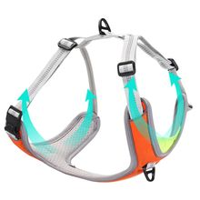 Pet Dog Harness Vest Adjustable Chest Strap with Buckle Breathable Reflective Collar for Medium Large Dogs colorful cute dog pet glossy reflective collar safety buckle bell strap 6 colors adjustable strap