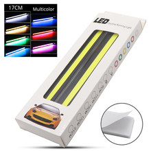 2Pcs/set High Quality Car 17CM COB DRL Daytime Running Lights 12V Auto Interior Lamp Motorcycle Styling Atmosphere Light(China)