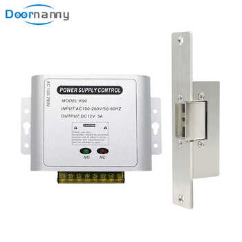 Doornanny Electric Lock For Gate Home Intercom Video Door Phone Door Access Control System Kit With DC12V Power Supply Control - DISCOUNT ITEM  34 OFF Security & Protection