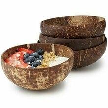 Дизайн миска из скорлупы кокоса фруктовый салат лапша, рис Чаша Украшение ручной работы натуральный кокос фрукты чаша кухонные аксессуары