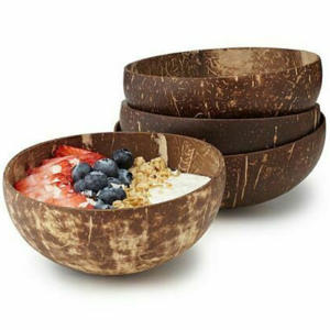 Bowl Fruit Decoration Salad Handicraft Kitchen-Accessories Coconut-Shell Noodle Natural