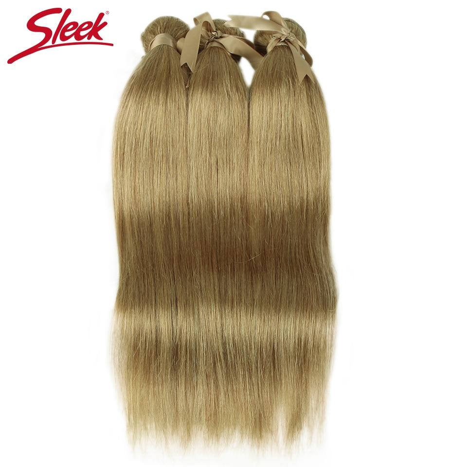 Tissage en lot brésilien naturel Remy lisse BLOND 30 | Mèches de cheveux humains, 10 à 26 pouces, offre en lots de cheveux humains